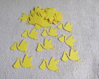 Stork Die Cut Confetti, Stork Confetti, Baby Shower Confetti, Stork Cutout