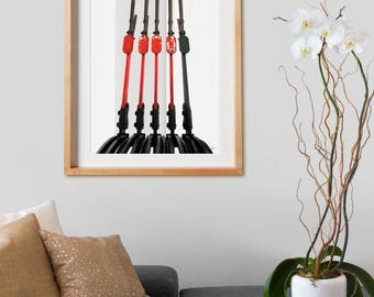 Destiny Levers.  Photography, industrial, train, decor, wall art, artwork, large format photo.