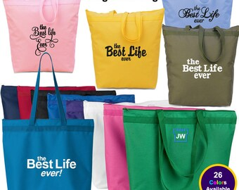 The Best Life Ever Large Tote Bag