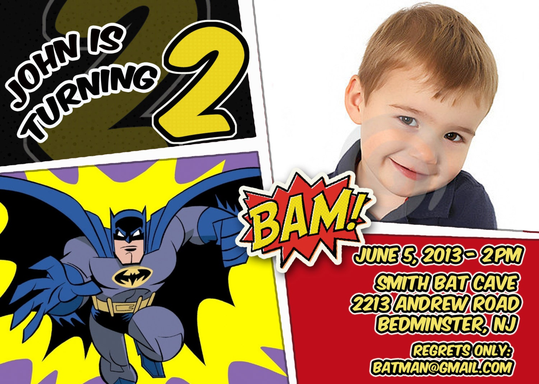 BATMAN Invitation Batman Birthday Party Batman printable