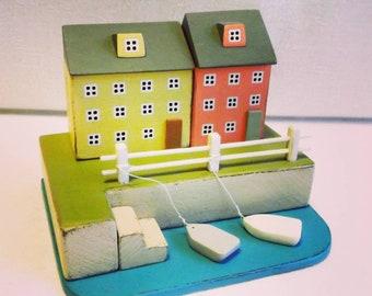 wood house, home decoration, house, miniature wood house, home decor