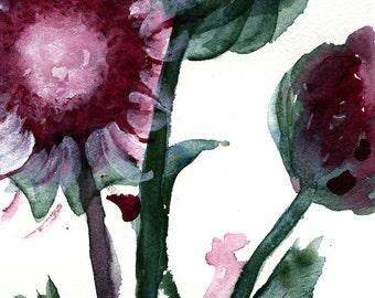 Moderne botanische kunst Print, distel, grote botanische kunst