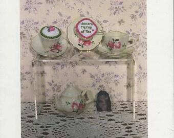 Teacup Pincushion Cross Stitch Pattern --Featherwurks Design -- FW30