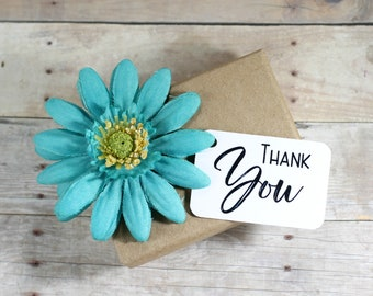White Thank You Tags (20 pc) - White Wedding Gift Tags - Merchandise Tags - Price Tags - Thank You Labels for Bridal Shower - Baby Shower