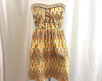 Tribal strapless sundress