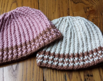 Organic Cotton Hat...the only one you'll ever need, Vegan Fashion, Organic Accessories, Organic Cotton Clothing, No Itch Hat, Pink, Beige