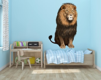 Lion King of the Jungle Vinyl Wall Decal