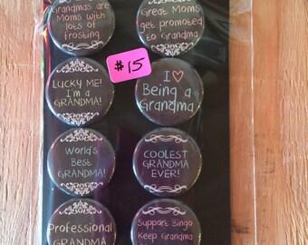"""1.25"""" Button Magnets - Grandma"""