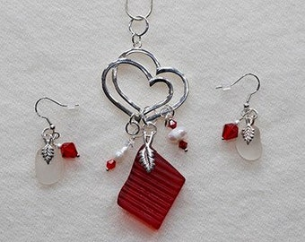 Red tail light sea glass