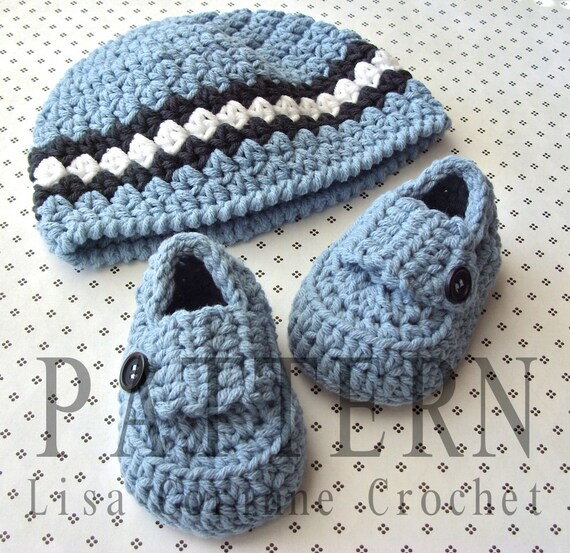Crochet Beanie PATTERN, Baby Booties, Baby Loafers, Baby Crochet ...