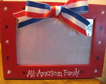 Patriotic Photo Frame Americana 4th of July Fourth of July Military picture photo frame
