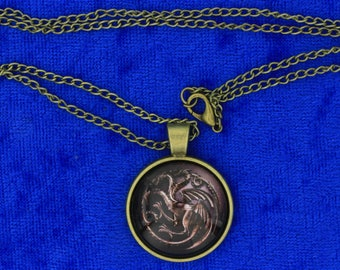 House Targaryen Dragon Necklace or Keychain Game of Thrones TV Inspired