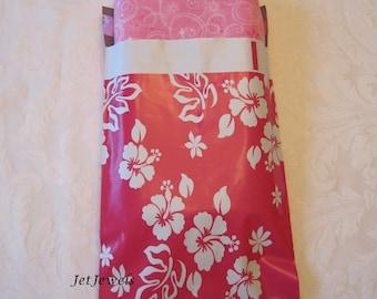 100 6x9 Poly Mailers, Hot Pink Mailers, Mailing Envelopes, Shipping Envelopes, Hawaiian Print