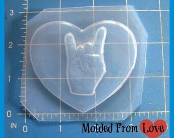 ROCK ON Heart Flexible Plastic Resin Mold