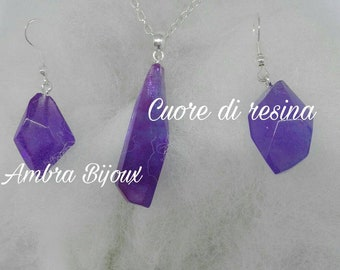 Purple resin Sets