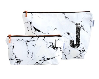 Renna Deluxe marble bag pencil marble makeup bag pouch