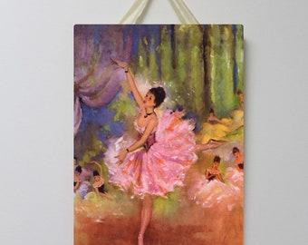 Ballerina Vintage Board 004, Ballet Decor, Ballerina Wall Decor, Ballerina Room Decor, Ballet Wall Art.
