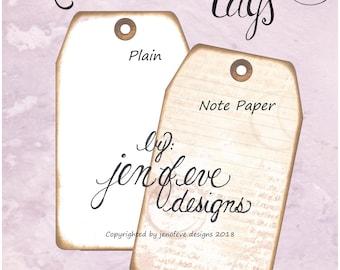Build ~A~ Bellishment Remnants ~ Tags in Note Paper & Plain