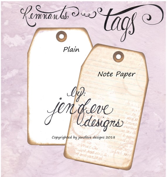 Build ~A~ Bellishment Remnants ~ Tags in Note Paper & Plain