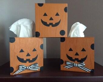 Jack-O-Lantern Tissue Box Cover