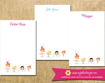 Personalized Gymnastics Notepad - gymnist gym mom kid child children teacher to do list gift list pad custom personalize monogram holiday
