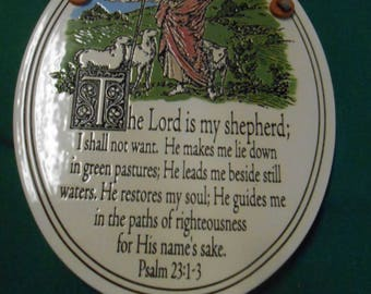 Wall Plaque SPOONER CREEK The Lord is my shepherd