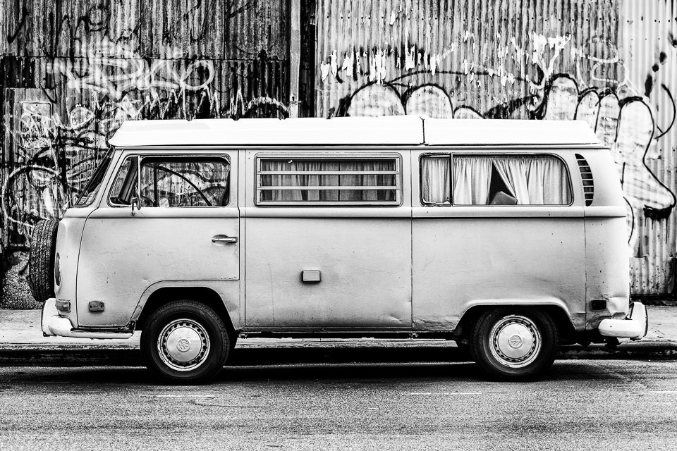 Classic Car Photography VW Bus In Williamsburg