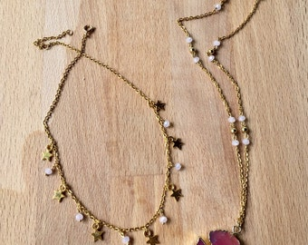 Stars choker and Long necklace