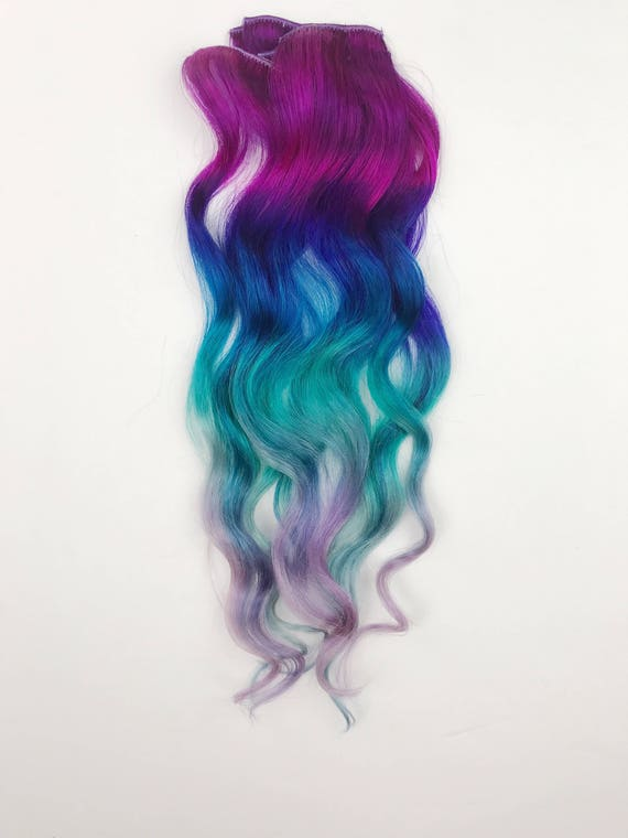 Gem under lights blues turquoise ombre hair extensions clip gem under lights blues turquoise ombre hair extensions clip in hair extensions pmusecretfo Images
