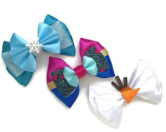 Elsa Anna Olaf Disney Frozen Inspired Character Hair bow