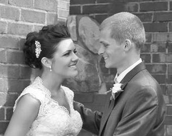 Bridal Hair Comb, BRIDAL COMB, wedding comb,bridal head piece,Pearly  Bridal Comb,winter wedding, crystal comb , - Charlotte