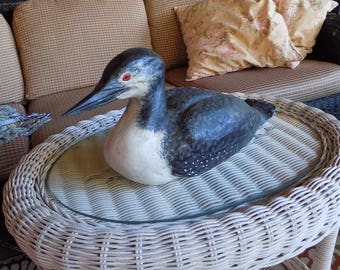 Private Collection - Classic Hand Carved Common Loon