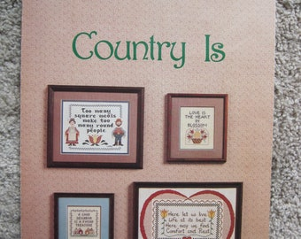 Cross Stitch Leaflet - Country Is - Leaflet 6 - Vintage 1983