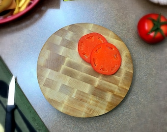 Cutting Board Maple Round Butcher Block
