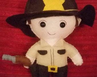 The Walking Dead's Rick Grimes inspired  felt plushie