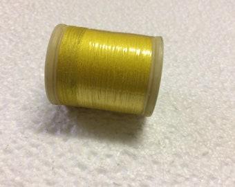 Thread DMC 100% cotton yellow 307