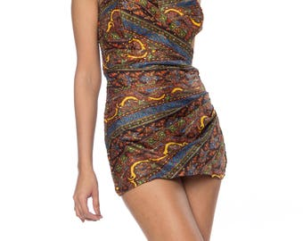 1950s Paisley One Piece Bathing Suit Size: 4
