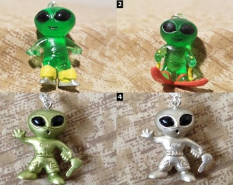 Alien Accessories - Area 51 Necklaces, Cell Charms, Audio Jack Plugs, Keychains, & Earrings