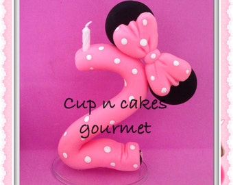 Minnie Mouse Cake Topper / Candle  (every number)