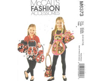 Girls Apron and Purse 3 to 8 Sewing Pattern McCalls M6373