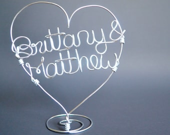 Custom Wire Cake Topper/Wire Wedding Cake Topper/Personalized Name Topper