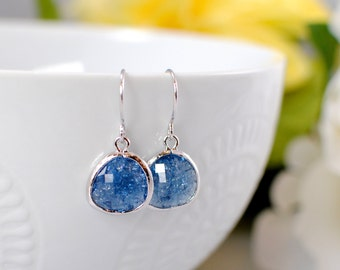 The Phoenix Anne Earrings - Sapphire/Silver