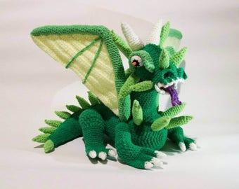 Green Dragon PDF Crochet Pattern, Amigurumi Dragon, Game of Thrones, Dragon Toy, Crochet Dragon, Red Monster, Dragon Pattern, GoT, DIY Toy