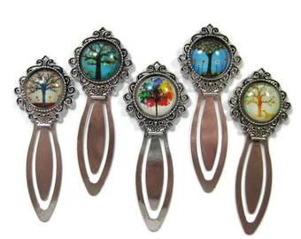 Tree Glass Cabochon  Book Mark Choose One (S4)