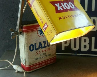 """The Oil Can"" lamp industrial style"