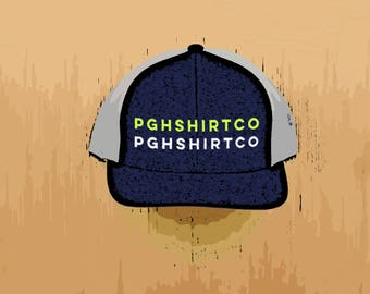 Double PghShirtCo Mesh Back Hat