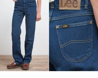 Vintage 70's Lee High Waisted Denim Jeans • Made in USA Lee Extra Small High Waisted Jeans 24x32