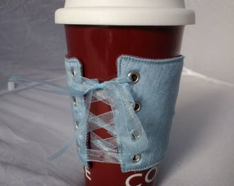 Blue & Pink Coffee Cup Corset