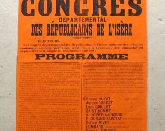 affiche de typographie Français du 19ème c.