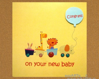Congrats on your new baby greeting card
